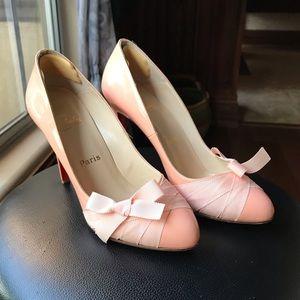 Christian Louboutin Pink Bow Heels